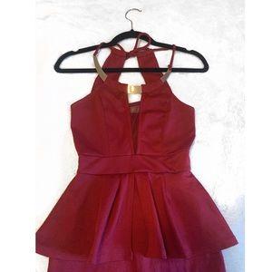 ✨ Peplum Mini Dress